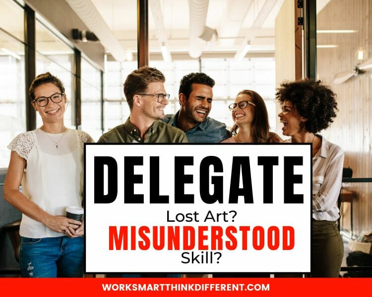 Delegating in a workplace